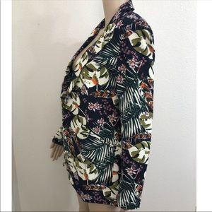 🆕 Cynthia Rowley Flora & Fauna Palm Tees Blazer